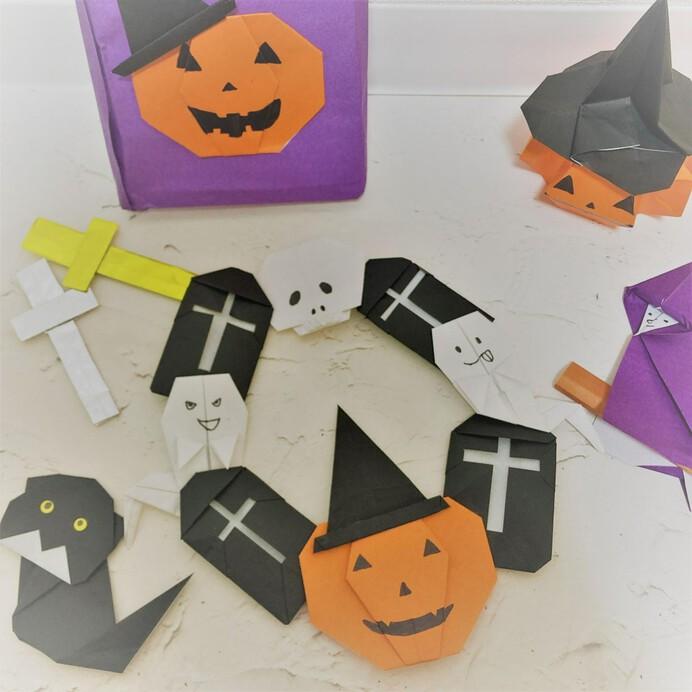 完全保存版【ハロウィン折り紙】幼児も折れる簡単かぼちゃやコウモリから立体折り紙まで全20選を徹底紹介!