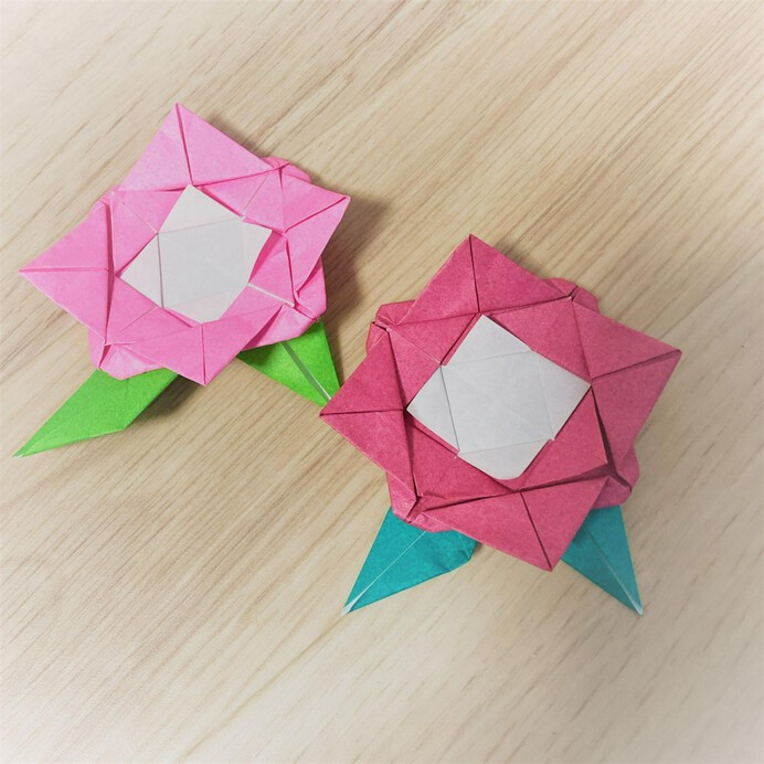 折り紙のばら